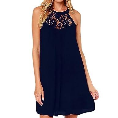 Damen Neue Summer Kleid FORH Sommerkleider Blumen Drucken Sommerkleider  mini Kleid Casual Partykleid Knielang Party Kleid 4db34faada
