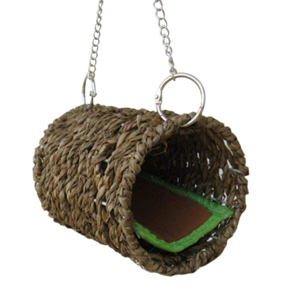 Sheep-H Hammock Play Hanging Bed Toy House Sea Grass Woven Nature for Pet Rat Hamster Little Friends Hideaway Small with Mat Mice Real Guinea Pigs Cobaya Chinchilla