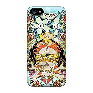 Tpu Fashionable Design Ed Hardy Rugged Case Cover For Iphone 5/5s New