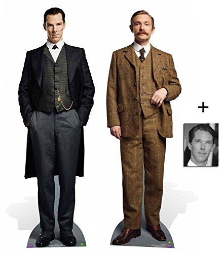 Fan Pack - Sherlock & Watson Twin Pack Lifesize and Mini Cardboard Cutout / Standee / Standup - Includes 8x10 Star Photo