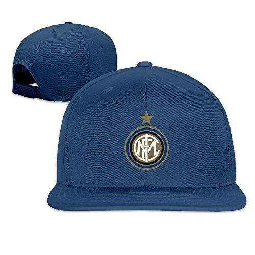 - Solid Adult Inter Milan Soccer Club Flat Bill Baseball Cap Navy