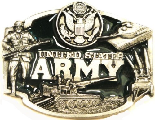 US ARMY METAL BELT BUCKLE
