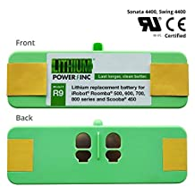 UL&CE Certified - Lithium Roomba Replacement Battery For iRobot Roomba 500, 600, 700, 800 Series and Scooba 450, 4400 mAh