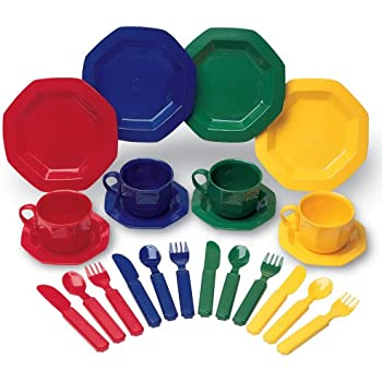 Learning Resources Play Dishes, 24 Piece Set