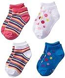 Hanes Girls' 4 Pack Classics Low Cut Liner Socks