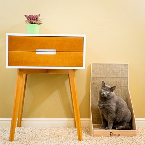 Cat-Scratcher-Vertical-Cardboard-Cats-Scratching-Post-Lounge-Bed-as-Furniture-Protector-and-Home-Dcor-Include-Free-Catnip-by-Pawmosa