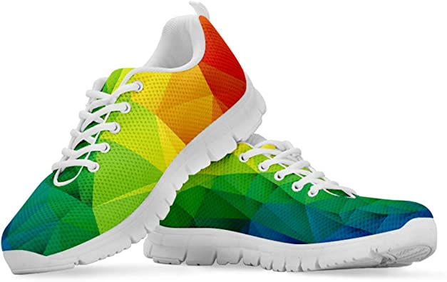Hugs Idea Zapatillas de Senderismo de Malla Transpirable para Mujer, Ligeras y con Colores Contrastantes, Color, Talla 43 EU: Amazon.es: Zapatos y complementos