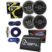 4) Kicker DSC654 6.5 2-Way 480 Watts (2 Pairs)+ SPL Amp APE4-900 Watts + Amplifier Installation Kit**PACKAGE DEAL