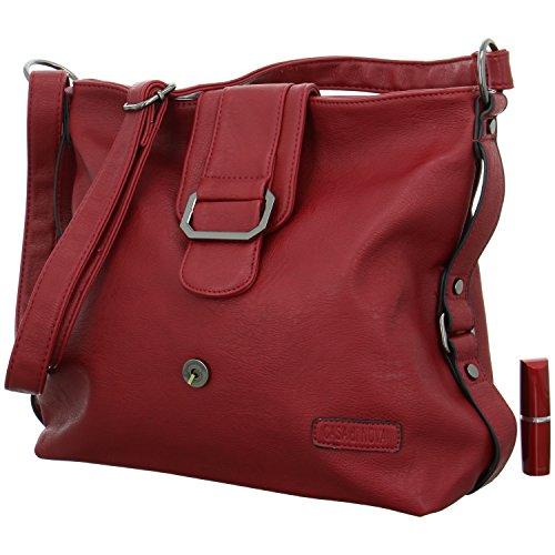 CASA di NOVA Schultertasche Größe One Size Rot (Rot)