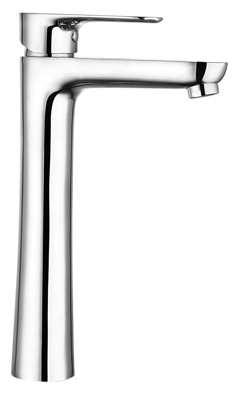 DEANTE BCJ 020 K Jaskier Wash Basin Mixer with Raised Metal Body, Chrome, 22 x 40 cm