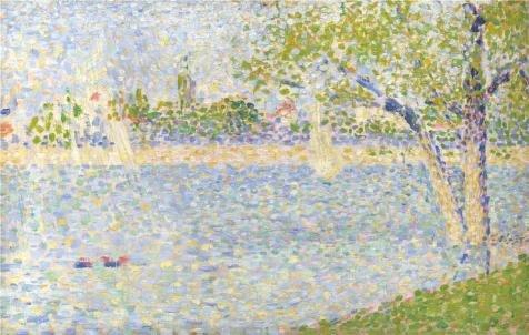 ポリエステルキャンバス、The Amazingアート装飾プリントキャンバスの油絵` Georges Seurat–セーヌseen from La Grande Jatte、1888年`、12x 19インチ/ 30x 48cm is best forスタディ装飾、ホームとギフト