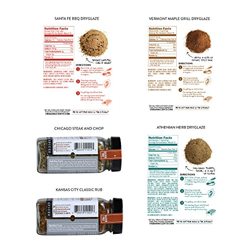 Urban Accents BODACIOUS BBQ Gourmet Grilling Spices and Meat Rub Collection and Gift Set, Perfect for Weddings, Housewarmings or Any Occasion