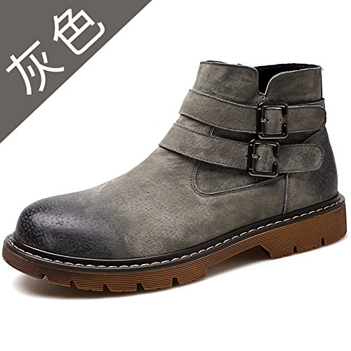 HL-PYL - Neue Martin Martin Martin Stiefel Männer die alte Art und Weise zu helfen und Freizeit Stiefel 42 Grau zu helfen e4a2e3