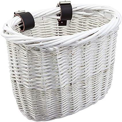 Wicker Bike Basket Light Brown With Straps Damaged Please Read First