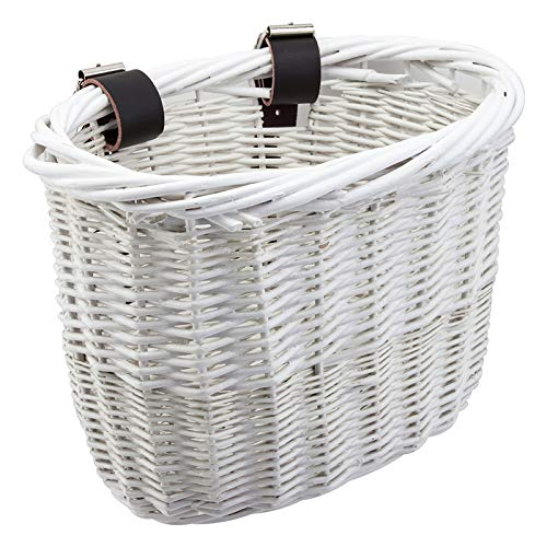 (Sunlite Willow Bushel Strap-On Basket, 9.75 x 6 x 7.5, White)