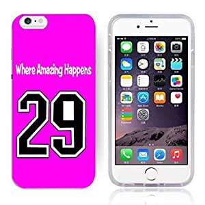 GXFC Case Unique Design Basketball Sportsman Uniform Where Amazing Happens 29 Pattern HD Durable Hard Plastic Case Cover for iphone 6(4.7 Inch) by ruishername