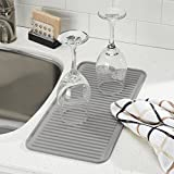 InterDesign Lineo Kitchen Countertop Silicone Sink