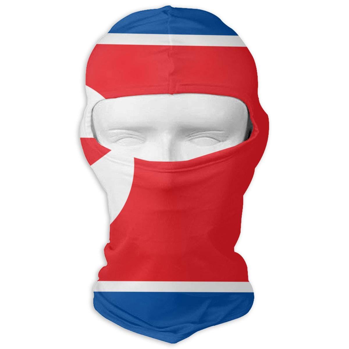 LaoJi North Korea Flag Winter Ski Mask Balaclava Hood Wind-Resistant Face Mask