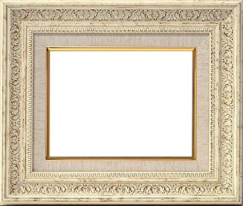 油絵用額縁 8203/ホワイト M30(910×606mm) アクリル (ライナー色:S/麻)【dras-29】 B01AJ8AXH2S/麻