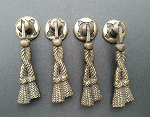 4 Rope and Tassle Drawer Cabinet Handles Pulls Antique Classic Style 2 3/4
