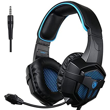 SADES 807 Multi-Platform Gaming Headset for Playstation 4 PS4 PC Computer  Games, Noise Isolation Bass Surround Stereo Soft Earmuffs Over-Ear