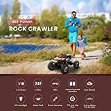 DEERC DE45 RC Cars Remote Control Car 1:14 Off Road Monster Truck,Metal Shell 4WD Dual Motors LED Headlight Rock Crawler,2.4Ghz All Terrain Hobby Truck with 2 Batteries for 90 Min Play,Boy Adult Gifts
