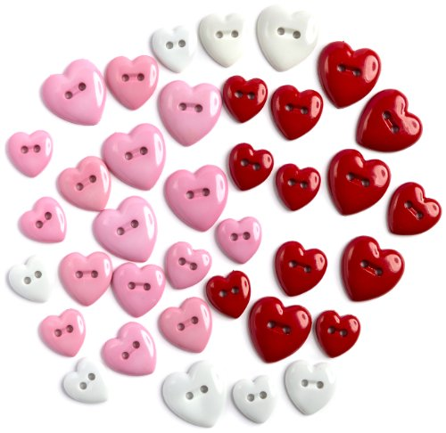 Dress It Up 30 Count Heart Breaker Buttons 3504 Heartbreaker, Varies
