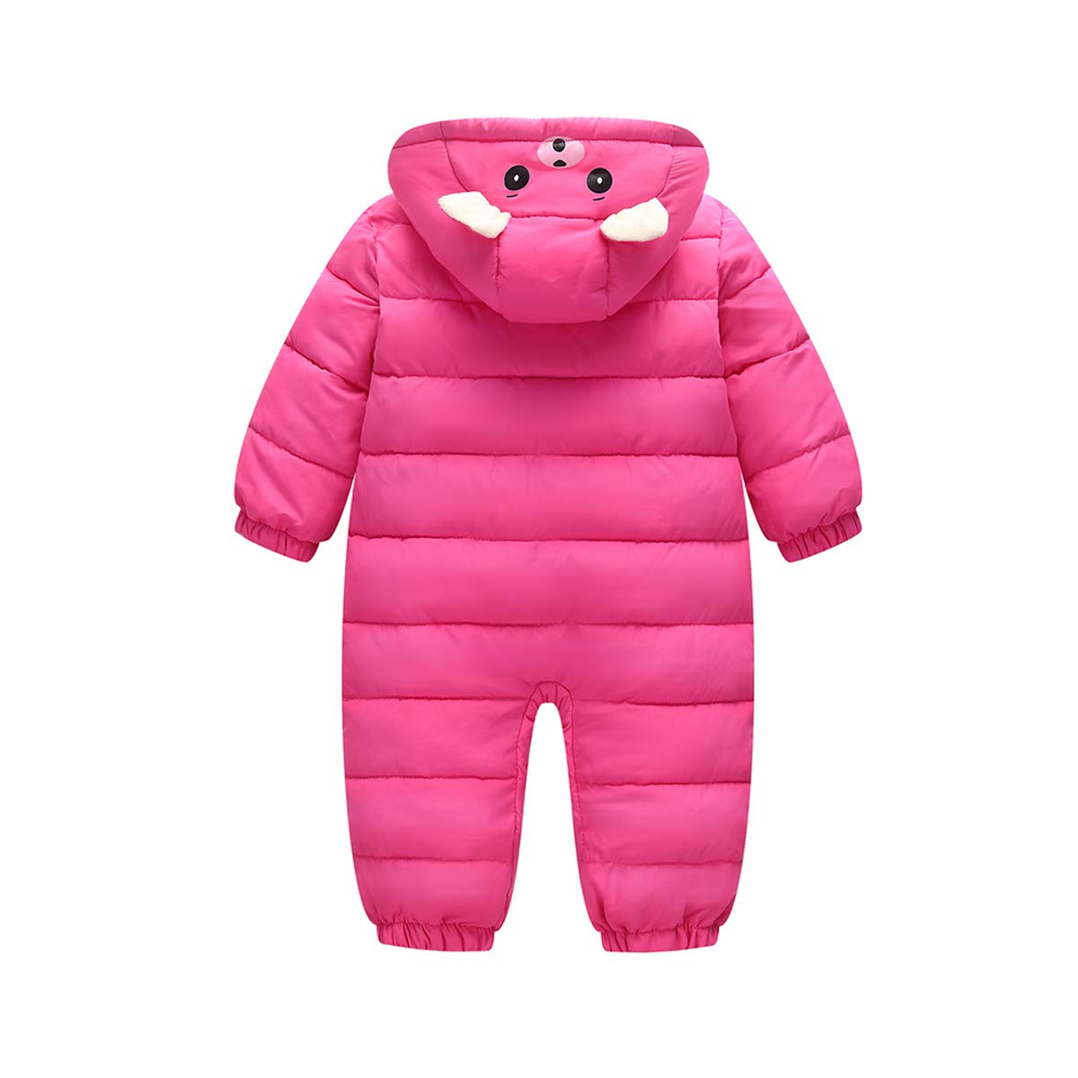 maduang Baby Boys Girls Hooded Jumpsuit Climbing Suit Thicken Cotton Down Padded Cute Jacket