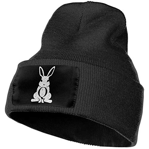 ICMELHY QAnon Follow The White Rabbit Beanie Caps Cuffed, used for sale  Delivered anywhere in USA