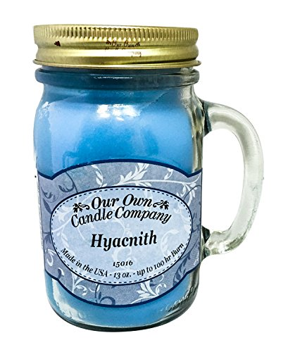 Hyacinth Scented 13 Ounce Mason Jar Candle By Our Own Candle Company