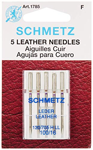 Euro-Notions Schmetz Leather Machine Needles, Size 16/100 5/Pkg ()