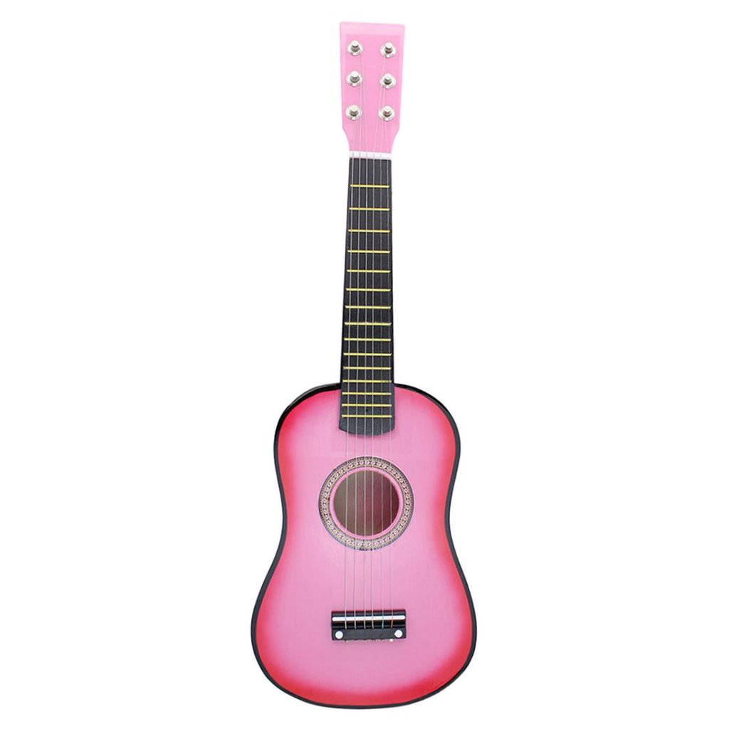 MonkeyJack 23'' 6-String Folk Acoustic Guitar for Beginners Music Lovers Students Kids Xmas Gift Pink