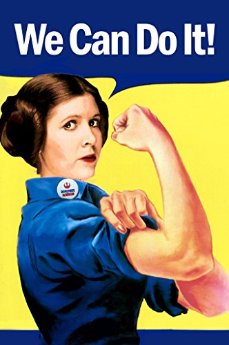 (We Can Do It! Leia Rosie The Riveter Parody Propaganda Poster 12x18 inch)