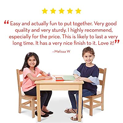 Melissa & Doug Tables & Chairs 3-Piece Set - Natural: Melissa & Doug: Toys & Games