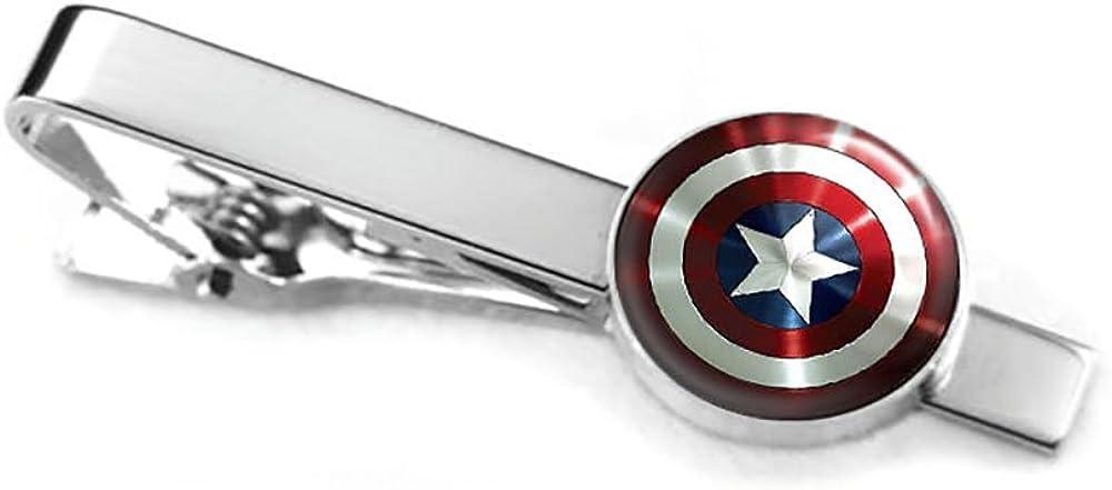 Marvel Avengers Age of Ultron Shield Logo Stainless Steel Cufflinks