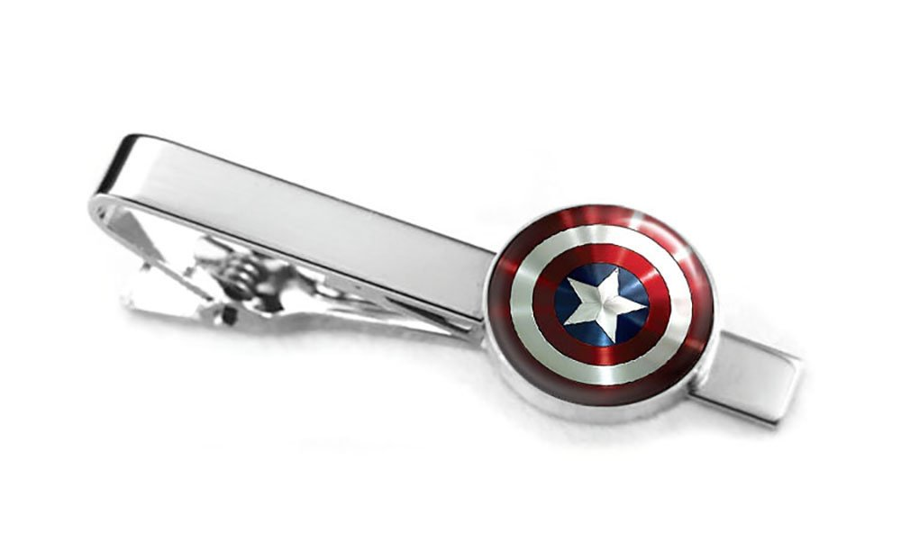 Galleon - Captain America Tie Clip, The Avengers Jewelry, Shield Cufflinks, Superhero Wedding Party And Groomsmen Gift Geek