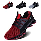 VOEN Springblade Shoes Men Mesh Breathable Fashion Sneakers for Walking Red Size 43