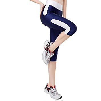 6c893b3a4e3ac Beiersi Sweatpants Women's Outdoor Capris Fitness Tights Leggings Yoga Pants  Running Gym Pants with Pocket S
