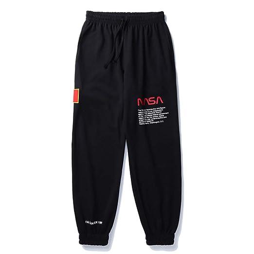 W&TT Pantalones de chándal de vellón de la NASA para Hombres y ...