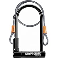 Kryptonite Keeper 12 STD W/ 4' Flex Antivol Forme U Mixte Adulte, Noir