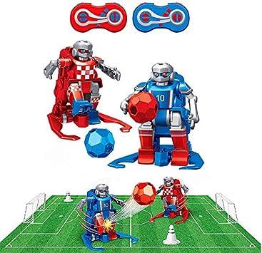 RC TECNIC Juego de Mesa Futbol Futbolin para Niños Robot Interactivo | Juguete Robots Teledirigidos Incluye Campo, Porterias, Mandos y Conos Entrenamiento, Regalo Navidad Cumpleaños: Amazon.es: Juguetes y juegos