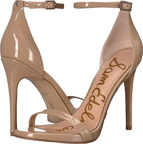 Sam Edelman Women's Ariella Strappy Sandal Heel Nude Patent 7 W US W