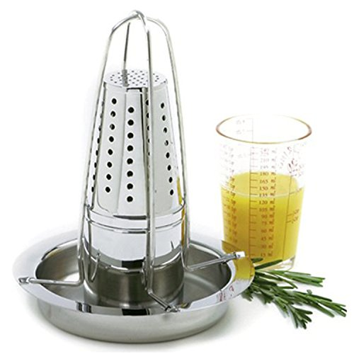 Norpro Stainless Steel Vertical Roaster, With Infuser