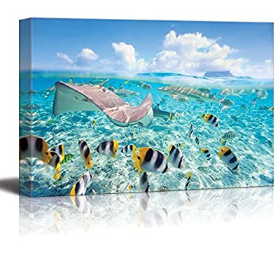 Bora Bora Lagoon Fun - Canvas Art