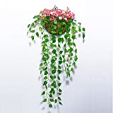 HOMEE Living Room Decorations Decorations Bedroom Fake Flower Pots Simulation Flowers Wall Decoration Flower Basket Placed Wall Hanging (Color Optional),13