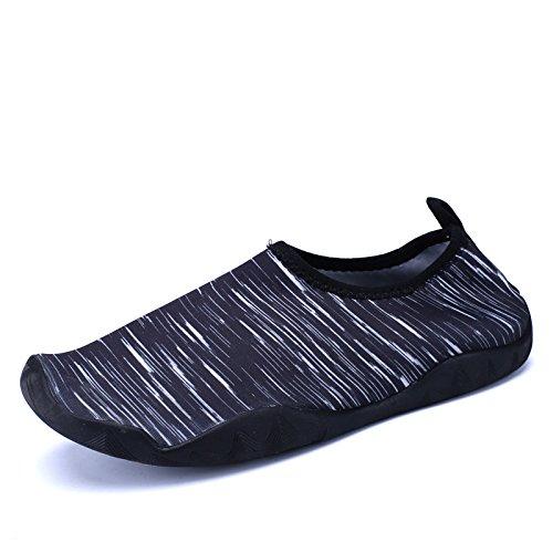 de Piscina de pegada rápido calzado zapatos secado seguridad piel de de aire libre blanco antideslizante negro natación snorkeling luz Color buceo y calzado playa Lucdespo al x7qUdwXX