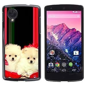 YOYO Slim PC / Aluminium Case Cover Armor Shell Portection //Christmas Holiday Cute Holiday Dog Puppy 1186 //LG Google Nexus 5