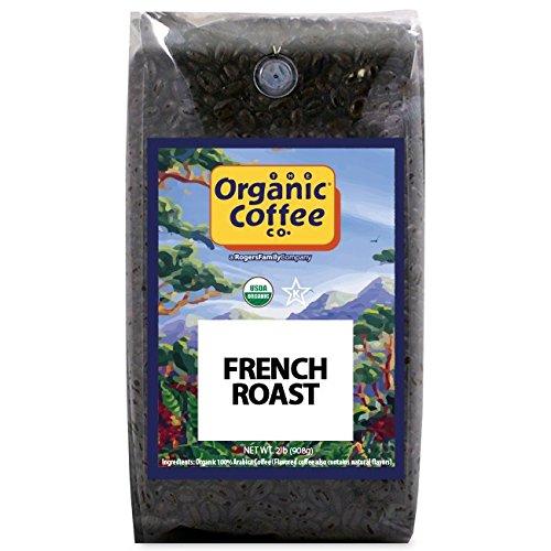Hot Top Coffee Roaster - The Organic Coffee Co, French Roast- Whole Bean, 2-Pound (32 oz.), USDA Organic
