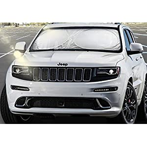 Car Windshield Sun Shade - Blocks UV Rays Sun Visor Protector, Sunshade To Keep Your Vehicle Cool And Damage Free, Easy To Use, Fits Windshields of Various Sizes (Large 63 x 33.5 inches)