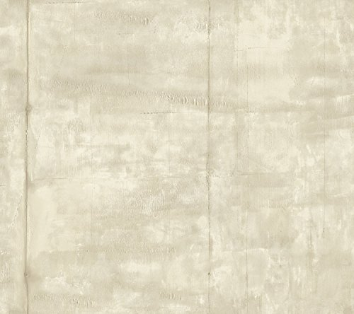 York Wallcoverings RK4416 Urban Chic Pound The Pavement Wallpaper, Pearlescent Cream/Pearl Grey (Pearlescent Wallpaper)